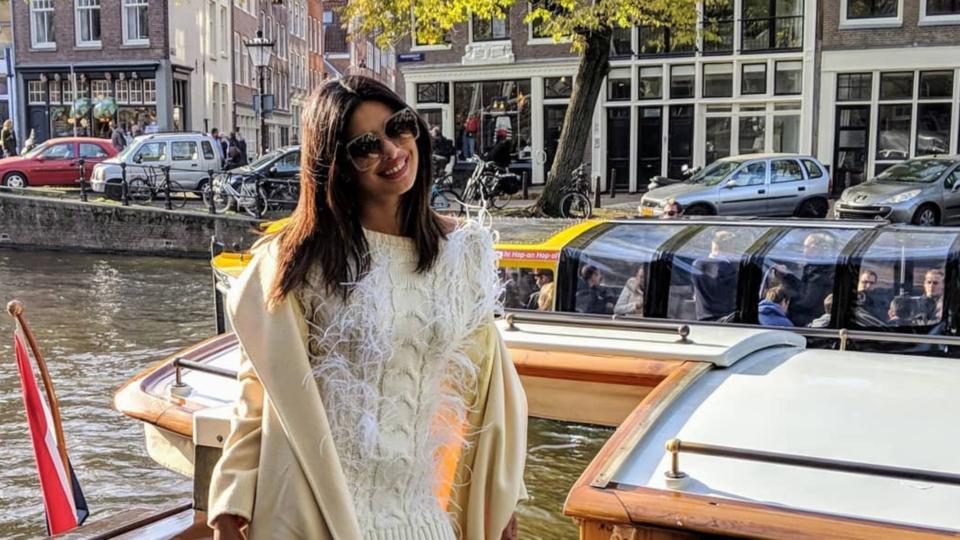 Priyanka Chopra Wears Yet Another White Ensemble On Her Wedding World Tour