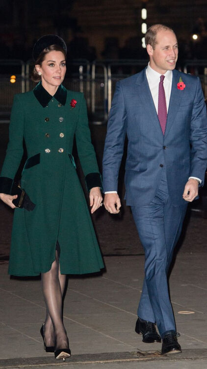 Kate Middleton and Prince William - Remembrance Day Service