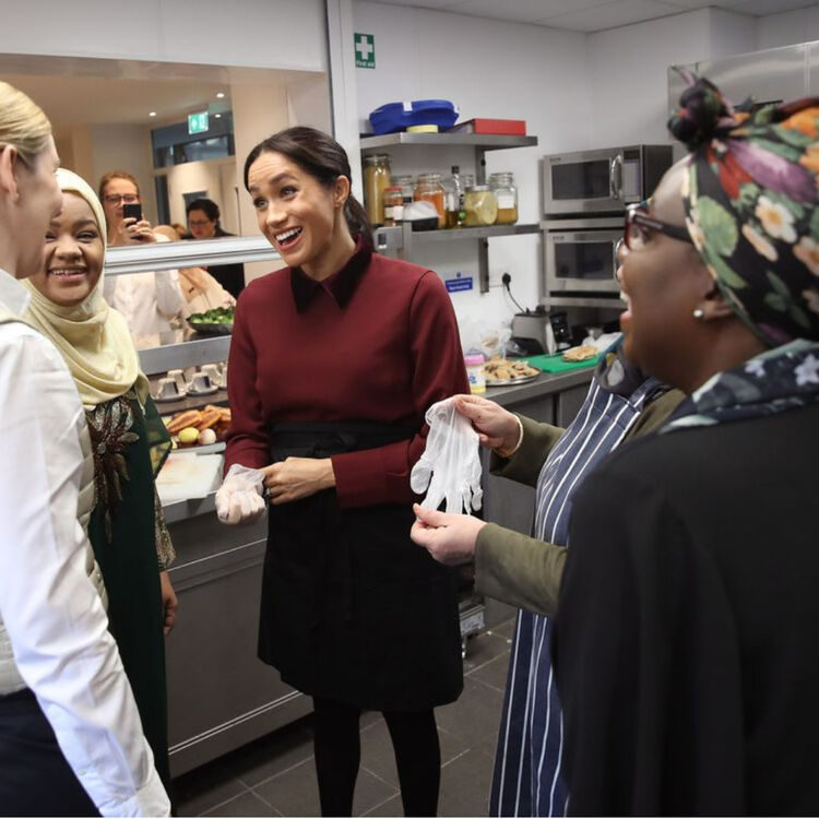 Every Photo Of Meghan Markle's Surprise Visit To The Hubb Community Kitchen