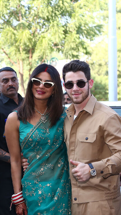 It's Priyanka Chopra's Turn To Wear Wedding Guest Attire And She Goes Full-On Couture