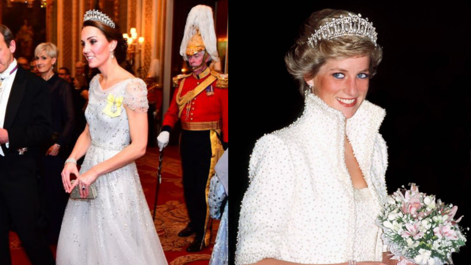 Kate Middleton Wore Princess Diana's Go-To Tiara At The Royal Holiday Party