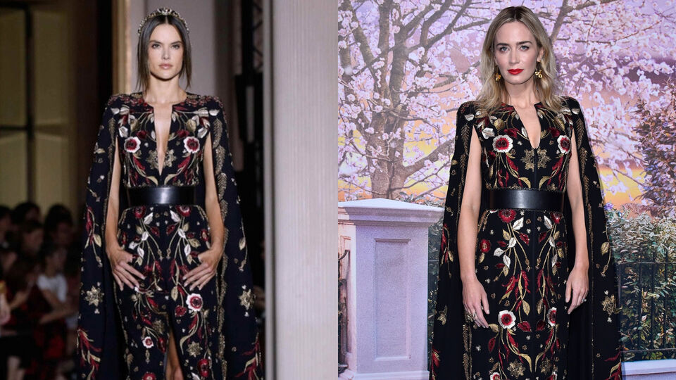 Emily Blunt Just Wore Alessandra Ambrosio's Zuhair Murad Runway Dress