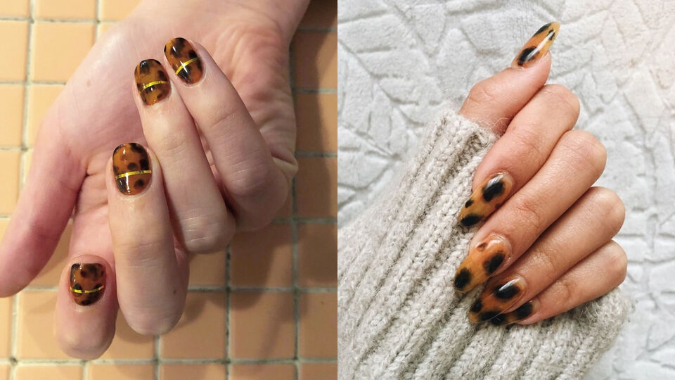 We Are So Into The Tortoiseshell Nail Art Trend