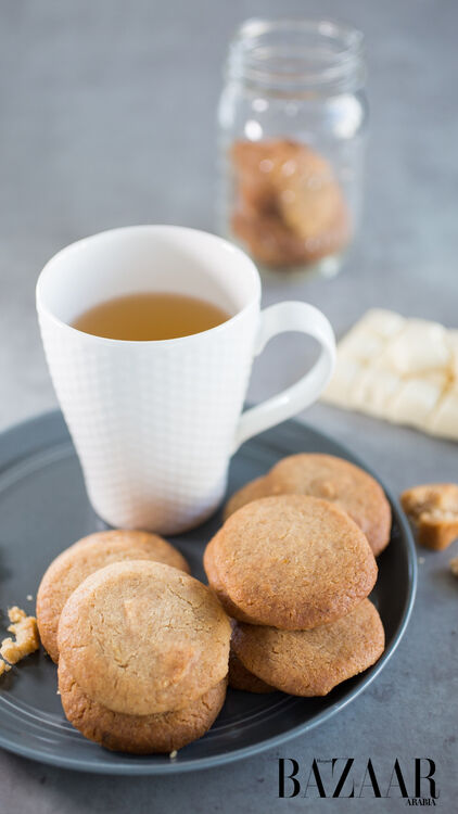 White Chocolate and Ginger Cookies by Dalia Dogmouch