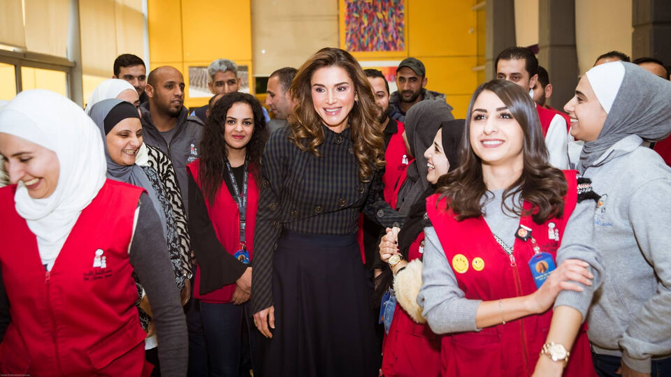 Queen Rania Takes This Off-White Dress From Streetwear To Royal