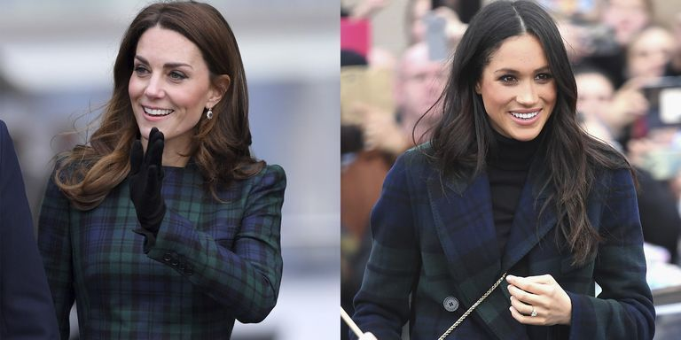 Kate Middleton Rocks Plaid In Scotland Just Like Meghan Markle
