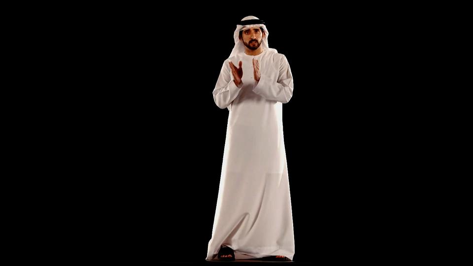 Sheikh Hamdan Just Gave A Speech As A Hologram