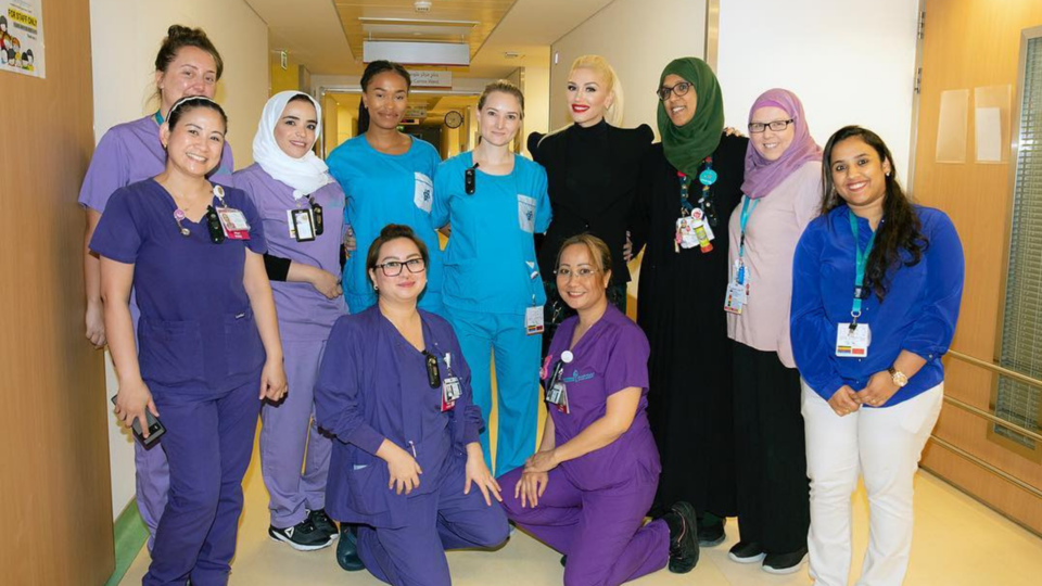 Gwen Stefani Paid A Visit To A Children's Hospital Whilst In Dubai
