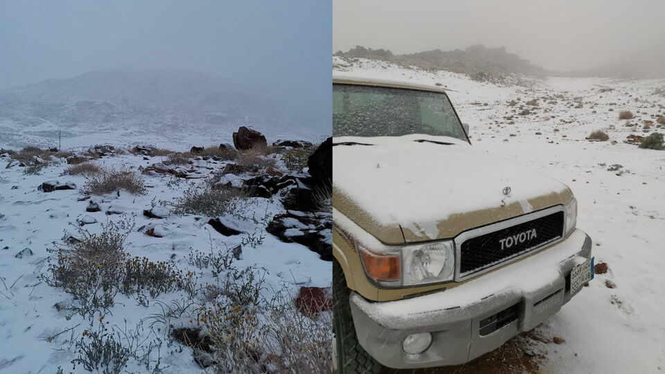 It Just Snowed In Saudi Arabia