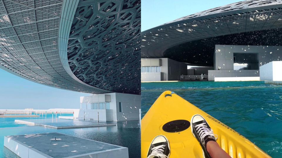 You Can Now Kayak In The Water Around The Louvre Abu Dhabi