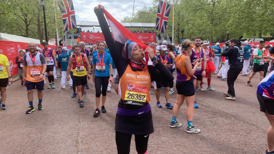 Manal Rostom Just Ran The London Marathon And Beat Her Boston Marathon Time