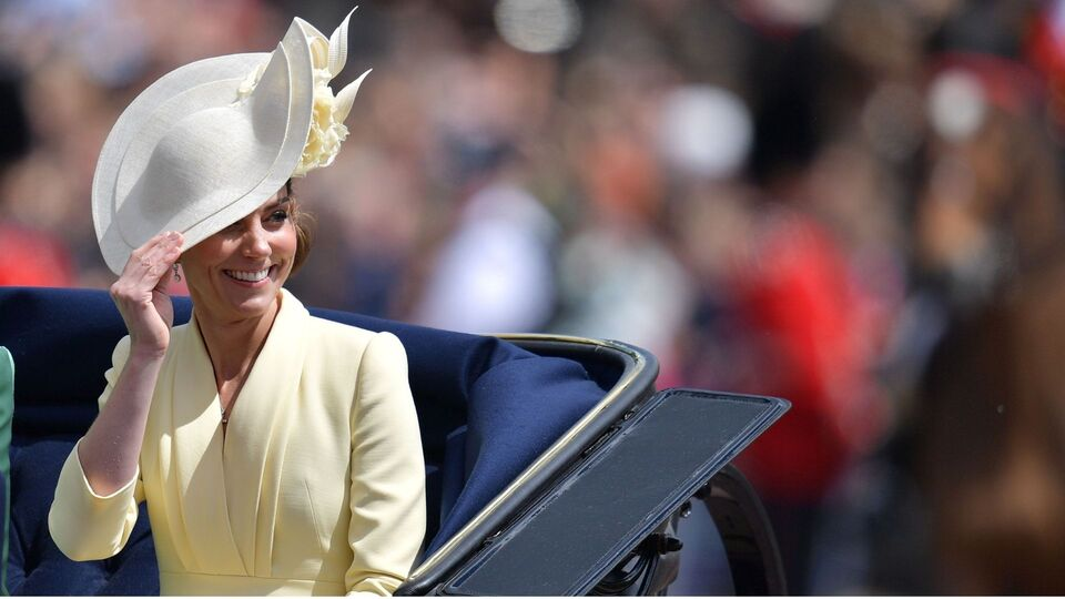 The Duchess Of Cambridge Wears Sunny Yellow For Trooping The Colour Parade