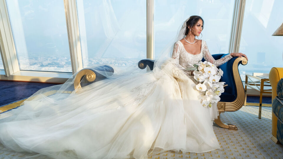Inside This Couple's Opulent Burj Al Arab Wedding