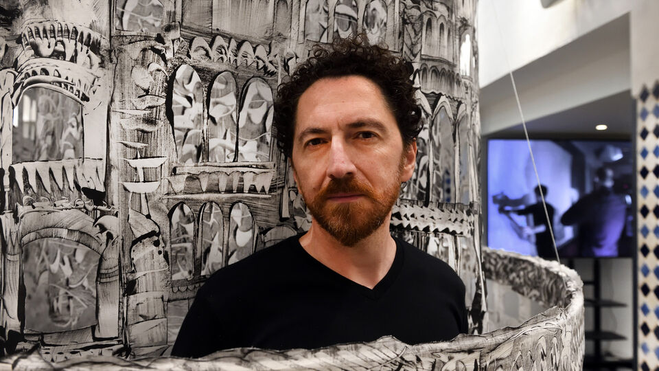 Syrian-Armenian Artist Kevork Mourad Shows 'Seeing Through Babel' Exhibition At London's Ismaili Centre