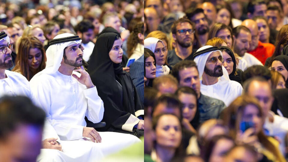 Sheikh Mohammed And Sheikh Hamdan Made A Surprise Visit To Tony Robbins's Event