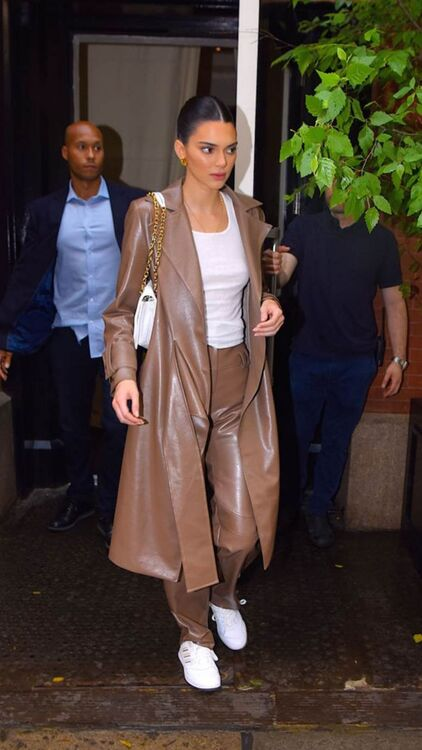 Every Celebrity Who's Sampled The Leather Trouser Trend