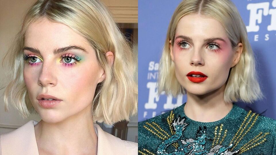 How To Recreate Lucy Boynton's Colourful Eye Make-Up Look