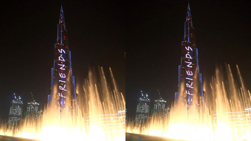 The Burj Khalifa Lights Up To Celebrate 25 Years Of 'Friends'