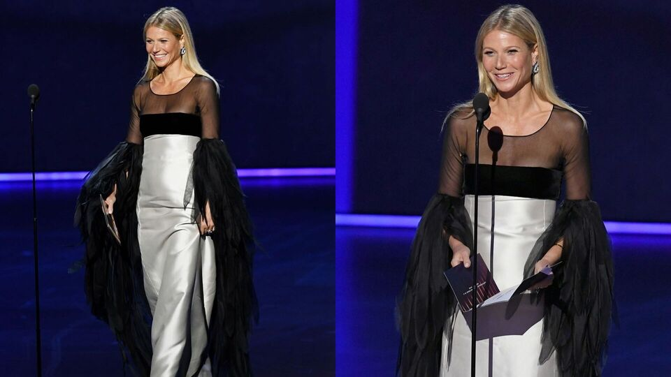 Gwyneth Paltrow's Confusing Walk at the Emmys Is Now a Meme