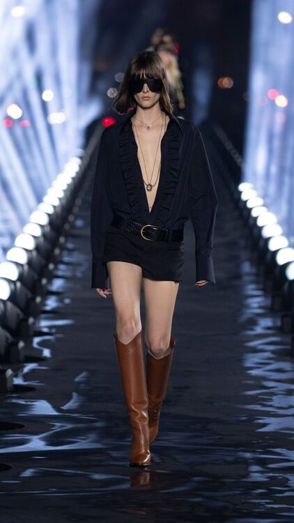 PFW: Every Single Look From Saint Laurent's S/S20 Show
