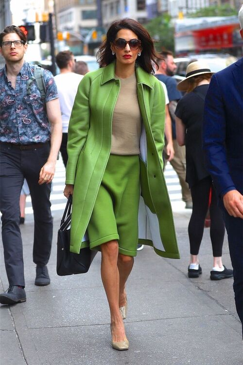 Amal Clooney Steps Out In A Fashion-Forward Neoprene Look