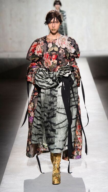 PFW: Dries Van Noten's Surprise Collaboration With Christian Lacroix For S/S20