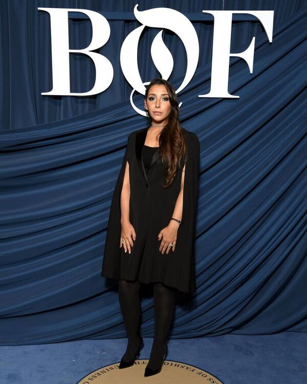 Marriam Mossalli Repeats Outfit From Last Year's #BoF500 Event In Support Of Sustainable Fashion