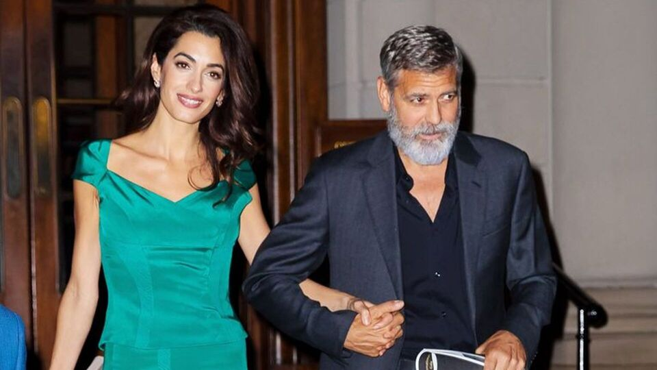 Amal Clooney Steps Out In An Elegant Emerald Look For Date Night With George