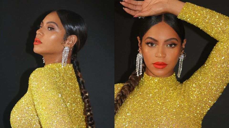 Beyoncé Glitters In Gold Wearing A Gown By This Kuwaiti Designer