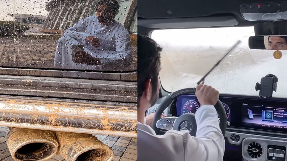 Sheikh Hamdan Went Cruising In The Dubai Rain Today