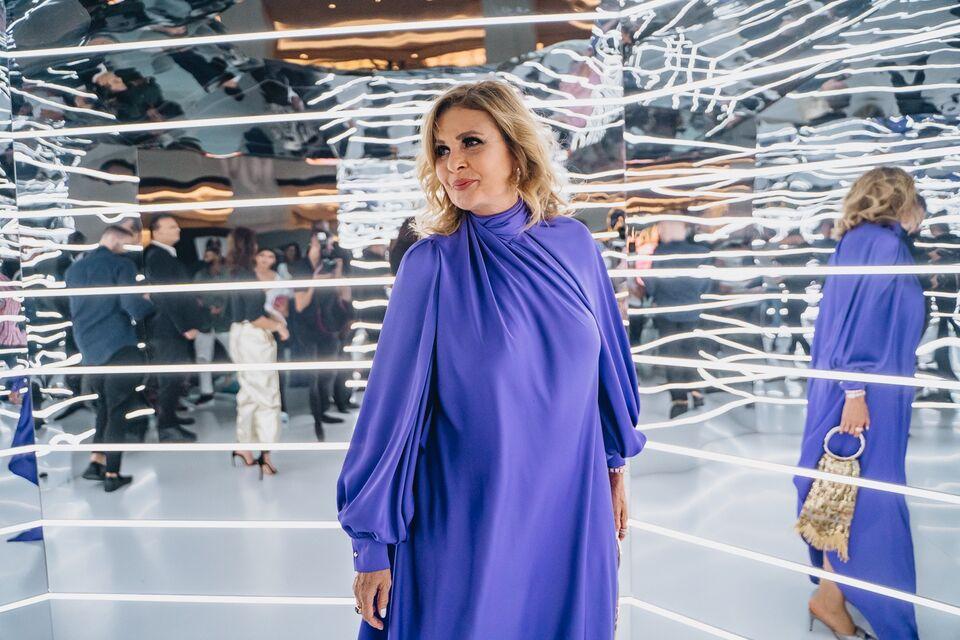 Yousra Wears A Lebanese Designer For Appearance At Bazaar Capsule