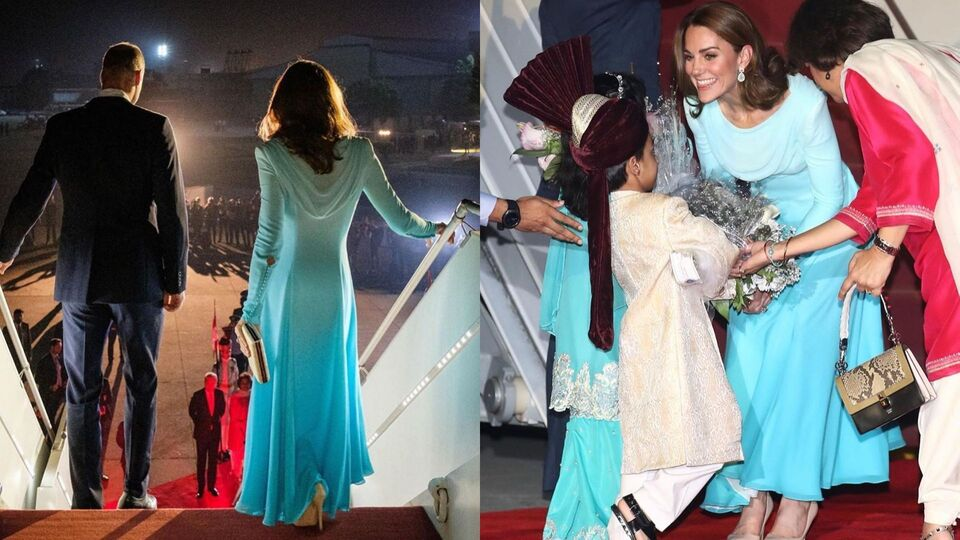 Kate Middleton Looks Stunning In Traditional Pakistani Attire In Islamabad Harper S Bazaar Arabia