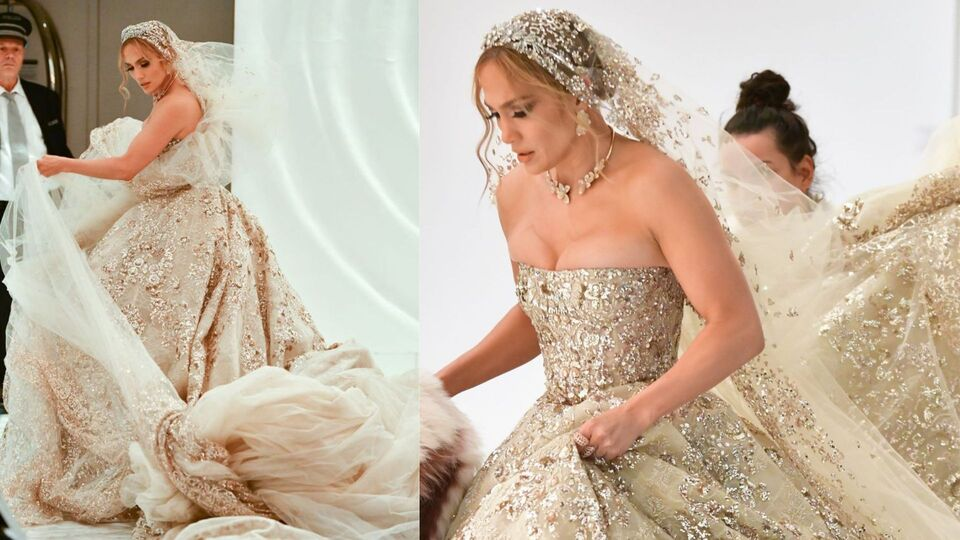 J.Lo Just Wore A Wedding Dress By This Lebanese Designer