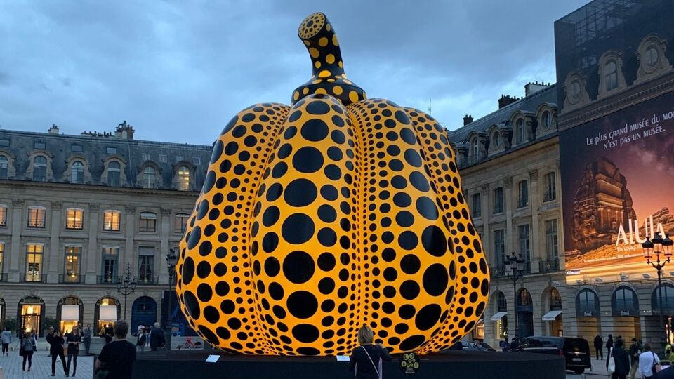 Yayoi Kusama's Gigantic Inflatable Pumpkin Makes A Statement At Paris' Place Vendôme