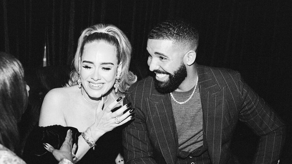 Adele Wore A Steamy Velvet Off-The-Shoulder Dress To Drake's Birthday Party
