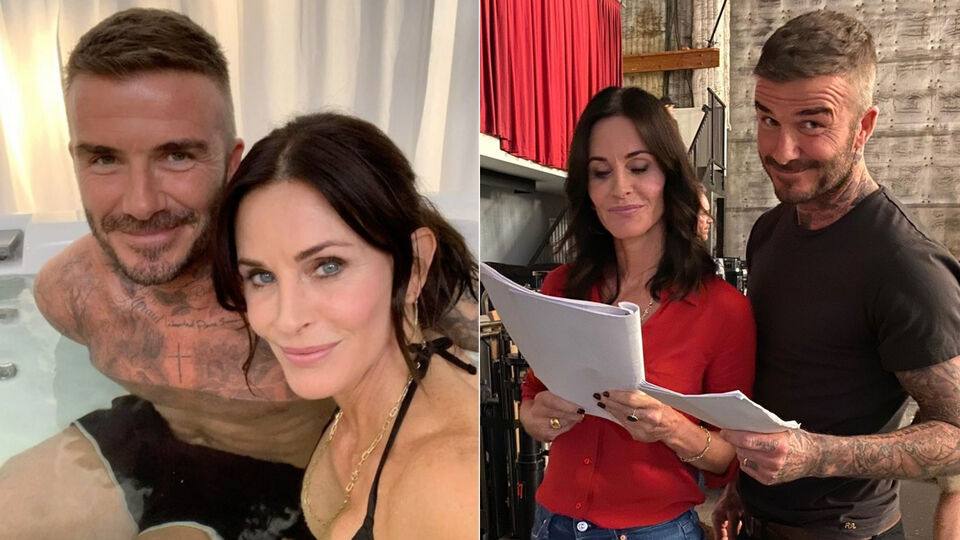 David Beckham And Courtney Cox Just Hung Out In A Hot Tub Together
