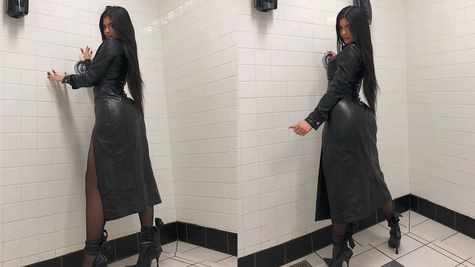 Kylie Jenner Embraces Autumn 2019's Leather Trend For Halloween