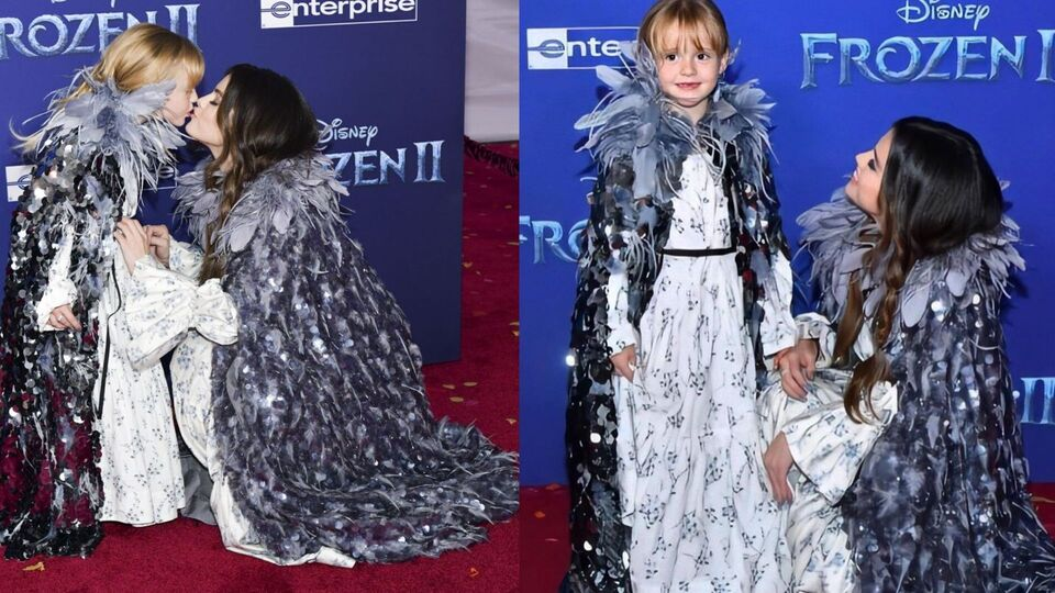 Selena Gomez And Little Sister Gracie Match In Marc Jacobs At The Frozen 2 Premiere
