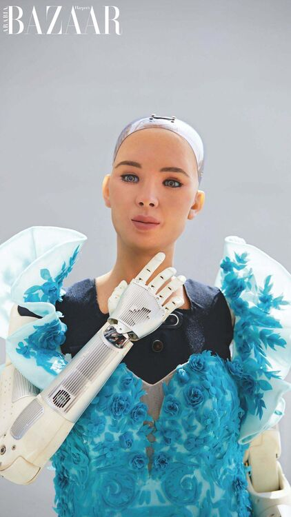 Cyborg Couture: Sophia The Robot Models Middle Eastern Designers On Her Trip To Dubai