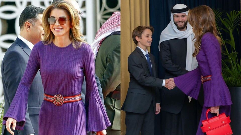 Queen Rania Looks Pretty In Purple Whilst Attending Royal Duties In Jordan