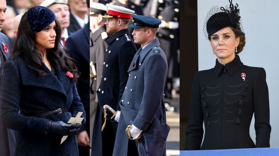 Pictures: All The British Royals At Remembrance Sunday