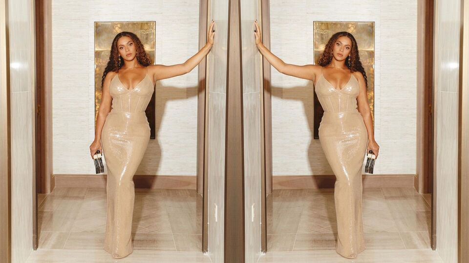 Beyoncé Just Wore A Slinky, See-Through Gold Gown To The Shawn Carter Foundation Gala