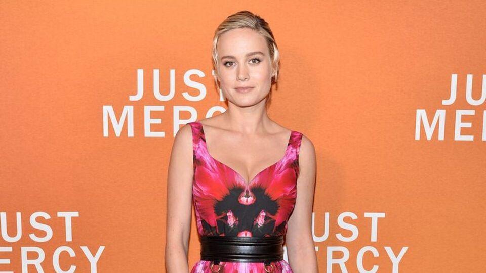 Brie Larson Wears Florals With Aplomb In Alexander McQueen
