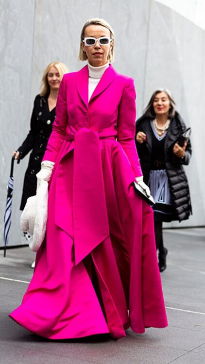 Fashion Week Street Style: The Elle Woods Effect