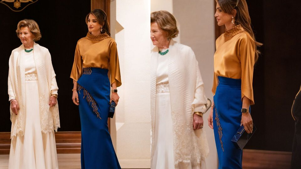Queen Rania's Chic Dinner Look Is A Lesson In Sophisticated Elegance