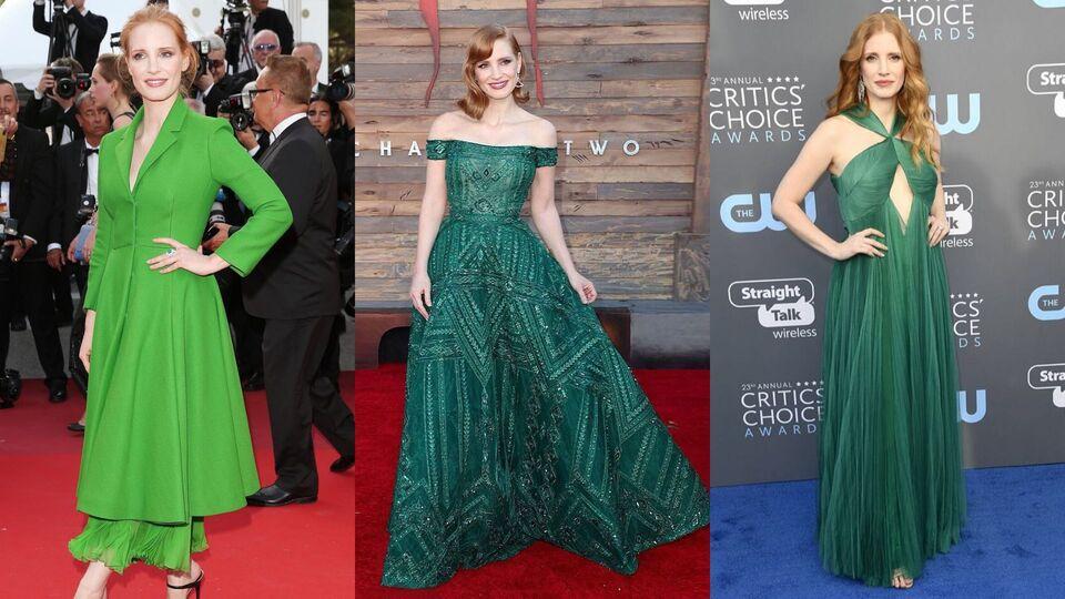 #StyleFile: Jessica Chastain's Best Green Goddess Looks