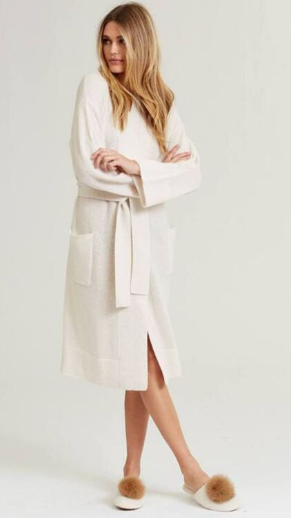 10 Super Soft Cashmere Robes To Lounge In At Home