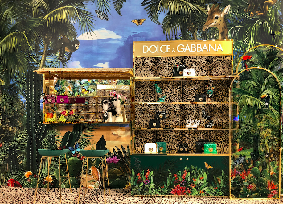 Dolce & Gabbana Has Just Launched A New Jungle-Themed Pop-Up Store At Level Shoes