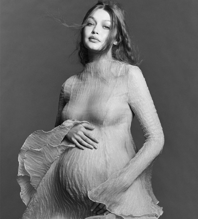 Gigi Hadid Reveals Her Baby Bump in A Series of Maternity Photos