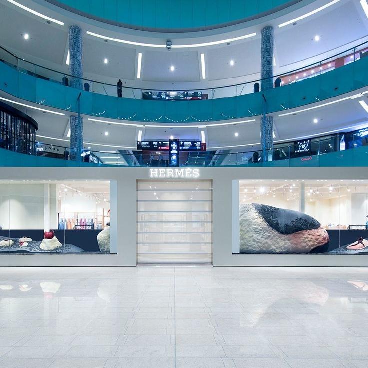 Najla El Zein's New Window Installation at Hermès Dubai